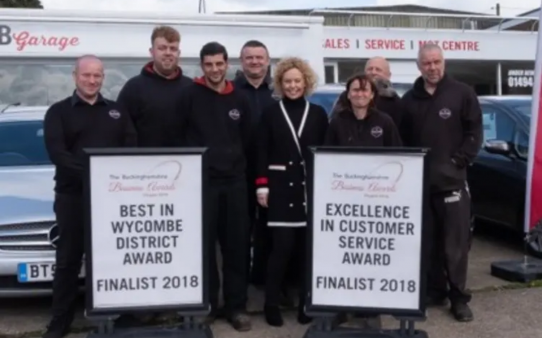 On being Finalists in the Bucks Business Awards 2018